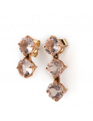 Earrings Morganites Maquis